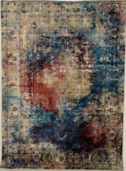 Picasso Heriz Vintage Vloerkleed Multi / Blauw Laagpolig- 80x150 CM