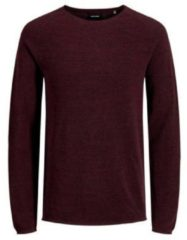 Bordeauxrode Jack & Jones - JJEHILL KNIT CREW NECK NOOS - Port Royale - Mannen - Maat S