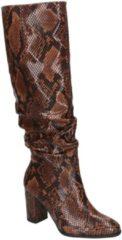 Bruine Tamaris Hoge laarzen slangenprint - Maat 36