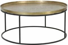 Gouden Light & Living Salontafel Serena ruw antiek brons/mat zwart 41 x Ø89
