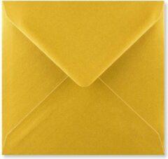 EnveloppenGigant.nl Gouden vierkante enveloppen 15,5 x 15,5 cm 100 stuks