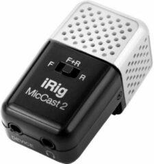IK Multimedia iRig Mic Cast 2 Dasspeld Smartphone microfoon Zendmethode:Kabelgebonden Incl. kabel