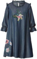 Kleid mit Pailletten und Volant-Ärmeln Angel of Style Blau