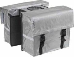 Bagoo Dubbele Fietstas Bisonyl 46 Liter Zilver