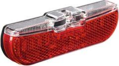 Rode Dragerachterlicht Trelock LS613 Duo Flat - 80mm (Montageverpakking)