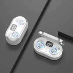 Grijze TWS - Draadloze oortjes / in-ear oordopjes - Bluetooth Draadloze buds - Luxe indicator - Geschikt voor alle smartphones o.a Samsung & Iphone, airpods, galaxy buds, huawei, sony - Wit.- AANBIEDING!
