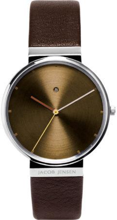 Afbeelding van Zilveren Jacob Jensen watches herenhorloge Dimension 843