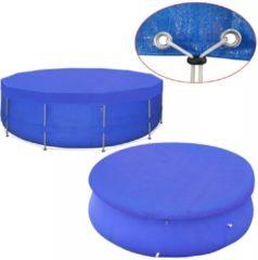 Blauwe VidaXL Zwembadafdekking PE rond 460 cm 90 g/m²