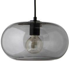 Grijze Frandsen Kobe hanglamp grijs met zwarte fitting