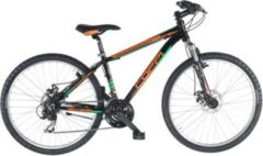 Fausto Coppi 26 Zoll Mountainbike 21 Gang Aluminium Coppi... 39 cm, schwarz-grün-orange