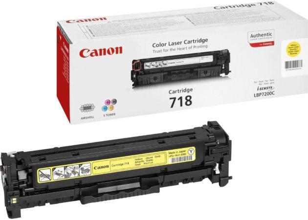 Afbeelding van Gele Canon CRG-718 Y Tonercartridge 2900pagina's Geel