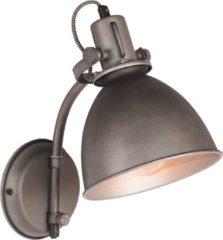 Zwarte LABEL51 - Wandlamp Spot 17,5x32x30 cm - Industrieel - Burned Steel