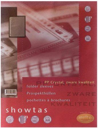 Afbeelding van Multo geperforeerde showtas ft A4, 23-gaatsperforatie, glashelder, pak van 10 stuks