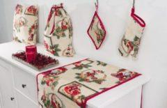 Rode Emme Boodschappentas - luxe gobelinstof - Christmas Armin - Kerst