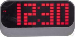 Wekker - NeXtime Loud Alarm - Wekker / Tafelklok - LED - Super Hard Alarm - ABS - 17.5x8.5x5 cm - Rood