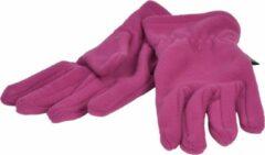 Paarse P&T Handschoenen Micro Fleece - Violet - Dames