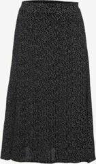 TwoDay dames midi rok met stippen - Zwart - Maat XL