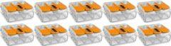SBE WAGO - Lasklem Set 10 Stuks - 3 Polig met Klemmetjes - Oranje - BES LED