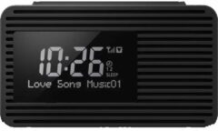 Zwarte Panasonic RC-D8EG-K Radio alarm clock DAB+, FM DAB+, FM, USB Black