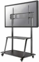 Zwarte Newstar NS-M4000BLACK Flat screen TV floor stand [1x 150 kg, 60 - 105 inch, 200x200/ 1000x600 mm]