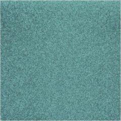 Rayher hobby materialen 3x stuks turquoise blauw glitter papier vellen 30.5 x 30.5 cmm - Hobby scrapbooking artikelen