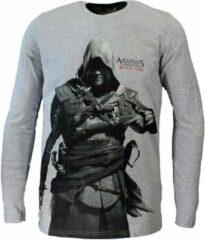 Assassin's Creed Assassins Creed Black Flag Longsleeve Grijs N.v.t. Unisex T-shirt Maat XS