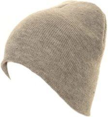 Merkloos / Sans marque Basic winter muts/beanie grijs voor volwassenen - Skimuts voor dames/heren