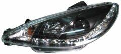 Universeel Set Koplampen DRL-Look Peugeot 206 1998- incl. GTi - Zwart