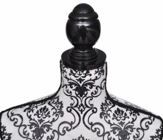 Afbeelding van Witte VidaXL - Paspop Vrouwen torso etalagepop zwart/wit