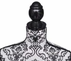 Witte VidaXL - Paspop Vrouwen torso etalagepop zwart/wit