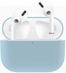 Case Cover Voor Apple Airpods Pro- Siliconen design-Lichtblauw   Watchbands-shop.nl