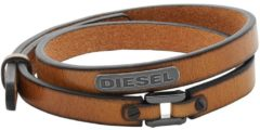 Donkerbruine Diesel Coiled Mannen Armband DX0984040