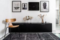 Interieur 05 Vloerkleed Modern Artline met strepen Zwart - 250 x 350 cm