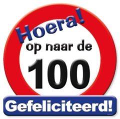 Rode Paper dreams Huldeschild Verkeersbord -op Naar De 100