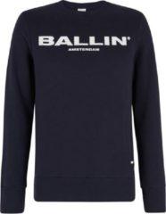 Marineblauwe Ballin Amsterdam Original Logo Hoodie Navy