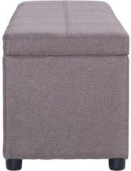 Bruine 5 days Bankje met opbergvak 116 cm polyester taupe