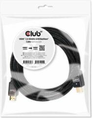 Club 3D Club3D HDMI Aansluitkabel 10.00 m CAC-2313 Vlambestendig, High Speed HDMI Zwart [1x HDMI-stekker - 1x HDMI-stekker]