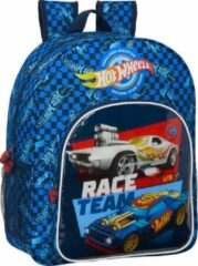 Blauwe Hot Wheels Rugzak Race Team - 38 x 32 x 12 cm - Polyester