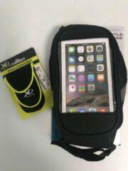 Zwarte XQ Max Fietstas voor smartphone en schoenportemonnee