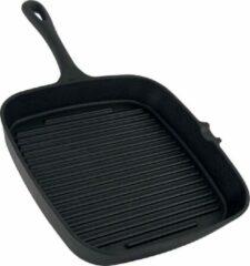 Daumonet gietijzeren grillpan - Steakpan - Vierkant met schenktuit - 23,5 cm - 2 liter - Emaille - Zwart - Geschikt voor alle warmtebronnen - Elektrisch - Gas - Halogeen - Inductie - Keramisch - Vaatwasserbestendig - DAU-CISG-BLACK-24