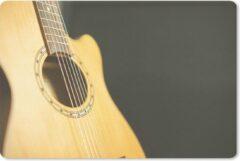 MousePadParadise Muismat Akoestische gitaar - Half zijaanzicht van een akoestische gitaar muismat rubber - 27x18 cm - Muismat met foto