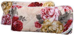 Beige Stoffhanse Kissen 40 x 80 cm, 2er Set floral