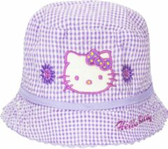 Paarse Hello Kitty zonnehoedje