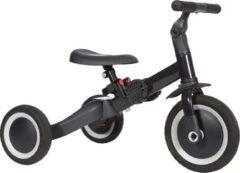 Antraciet-grijze Topmark 4 in1 Driewieler - Loopfiets - Balance Bike - Kaya - Antracite