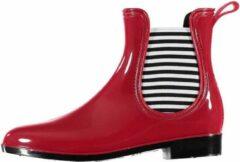 Apollo Rode korte dames regenlaarzen chelsea boots - Festival/tuinieren regenlaarzen voor dames 37