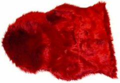 Rode Van der Leeden Schapenvacht 65x90cm chili pepper