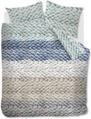 Ariadne At Home Chunky Dekbedovertrek - Lits-jumeaux (260x200/220 Cm + 2 Slopen) - Katoen - Blue