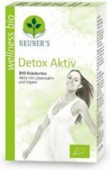 Neuner's - BIO - Biologische Detox kruidenthee met gember, citroengras, paardebloemkruid, haverkruid thee, brandnetelblad en meer - 1 doosje x 20 zakjes = 40 gram - natuurlijke detox - balans - kuurthee - Balans Actief - Wellness thee