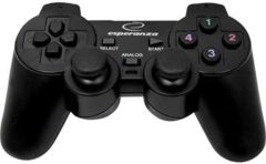 Gamepad Esperanza WARRIOR PC, PlayStation® 3, PlayStation® 4 Zwart