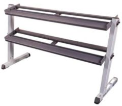 Antraciet-grijze Body-Solid GDR60 - Dumbbell Rack